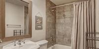Bathroom with cute wall decor