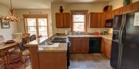 Kitchen with tiled floors