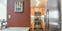 Kitchen with space to make enjoyable meals
