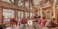 Living room with gorgeous furnishing
