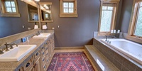 Bathroom with beautiful colors
