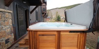 Hot tub to relax in after long days