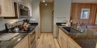Kitchen with space to cook enjoyable meals