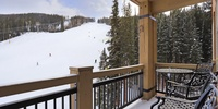 Cheer on your favorite skiers and relax while sitting on the balcony