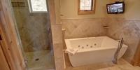 Bathroom with relaxing bath tub