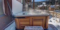 Outdoor relaxing hot tub