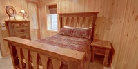 Bedroom with a cool rustic look
