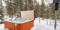 This hottub is a great place to relax and stay warm