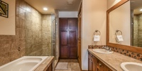 Bathroom with a walk in shower