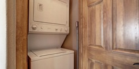 Room to wash clothes and keep living space fresh