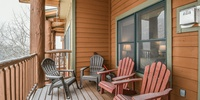Enjoy the great outdoors while sitting on the balcony with loved ones