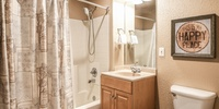 Bathroom with shower/tub duo