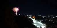 Fireworks from view of house