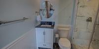 Bathroom with modern/rustic look
