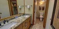 Bathroom with beautiful granite countertops
