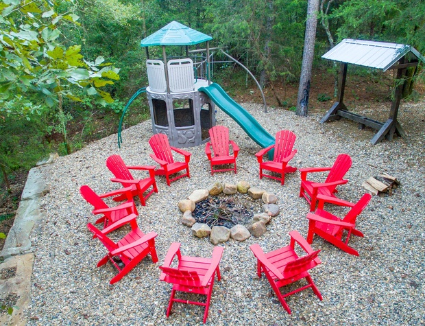 Make some Smores, Tell Scary stories under the Stars or watch the Little Enjoy the Playscape