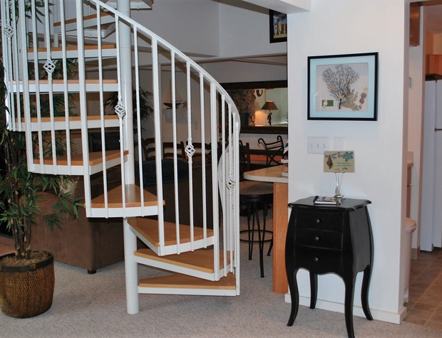 Spiral Stairs to Master Bedroom Suite