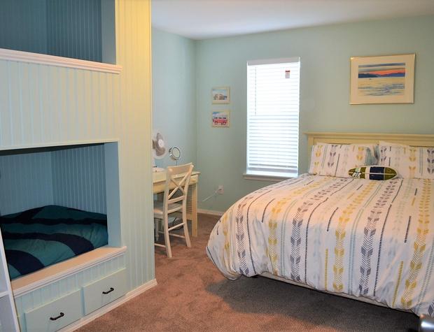 Queen & Bunk Bedroom