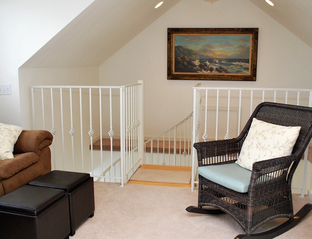Spiral Stairs Lead to Master Suite