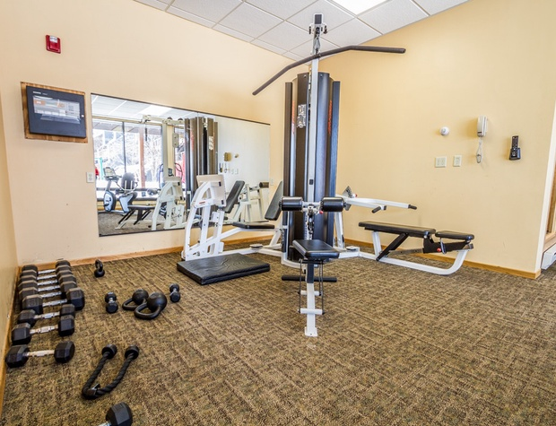 The fitness center is located in the A building and open to all Caribou Highlands guests.
