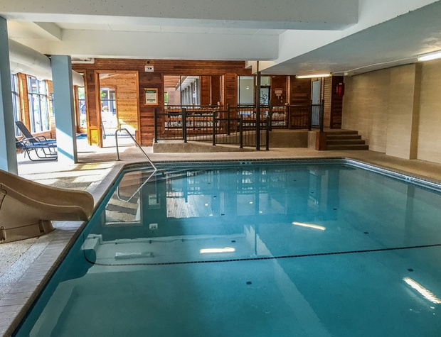 Enjoy the resort pool, open to all Caribou Highlands guests.