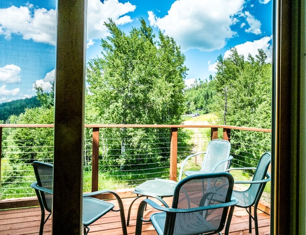 Enjoy your private 3-season balcony for great views of the Superior National Forest.