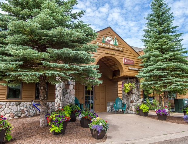 The Caribou Highlands lobby entrance. Here you will find the restaurant, bar, and gift shop.
