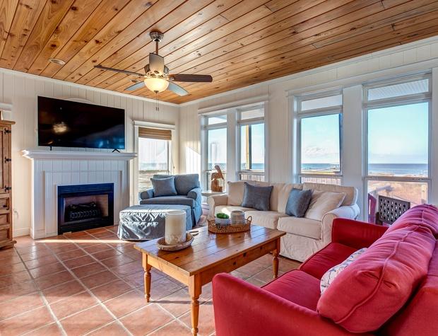 Living Room Dauphin Island Vacation Rental Bay View