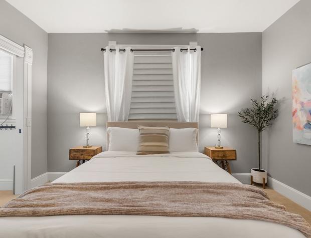 Queen Bed in the Primary Bedroom