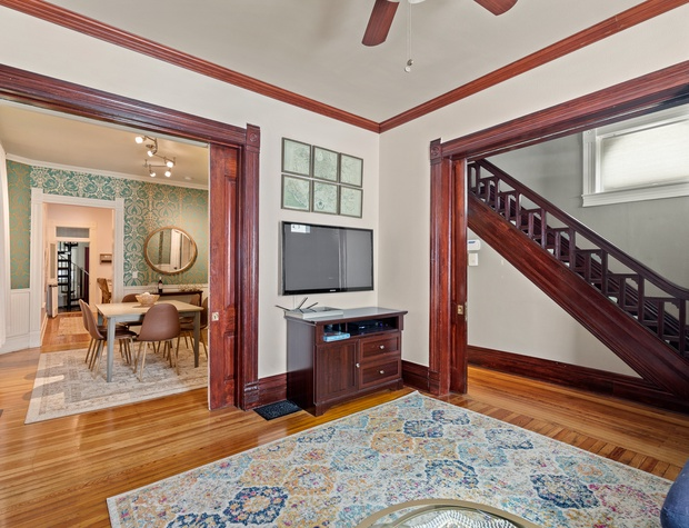 Living Room TV and Dining Room