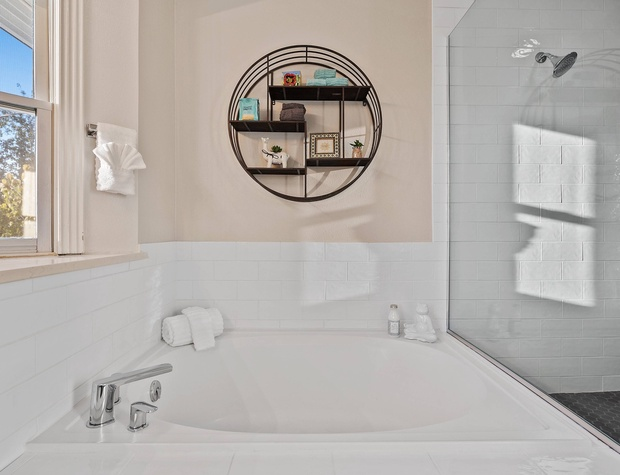 Soaker Tub in Master Ensuite Bathroom