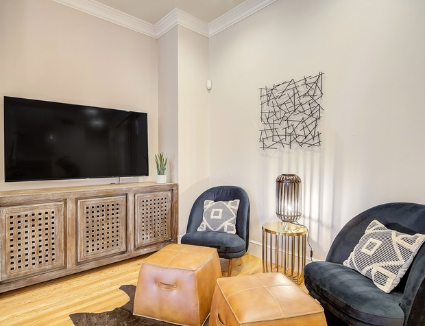 Seating in Living Area with Flat-screen Smart TV