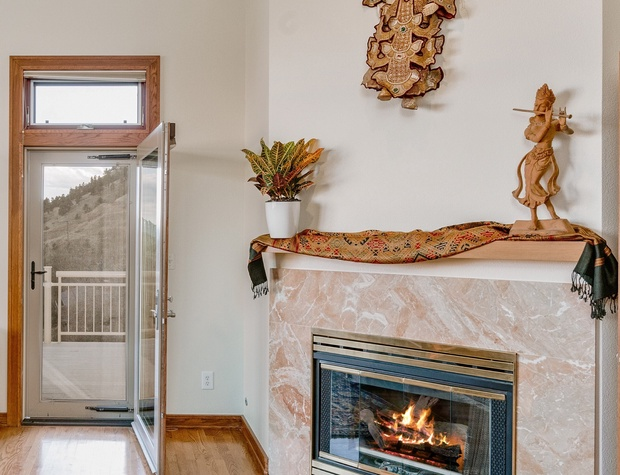 The master suite also boasts a private gas fireplace.