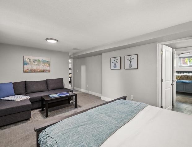 Master bedroom with Queen Sleeper Sofa