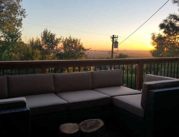 Deck with City View