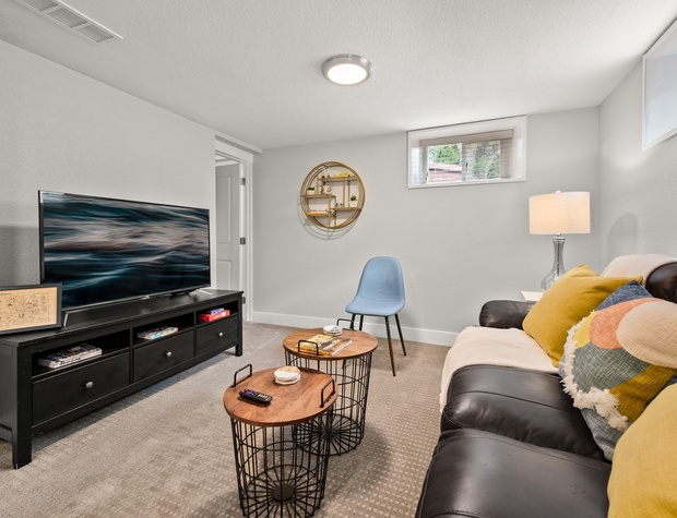 Living Room with Flatscreen TV for Streaming