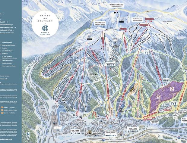 Copper Mountain Ski Resort Map
