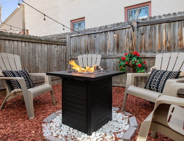 Back Patio with Seating **The fire-pit and grill are NOT an advertised or guaranteed amenity* *SEE HOUSE RULES before booking**