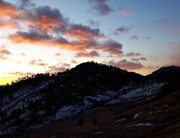 Sunrise over the Boulder Foothills