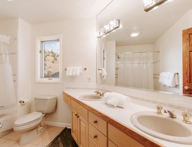 Full bathroom on the top floor.