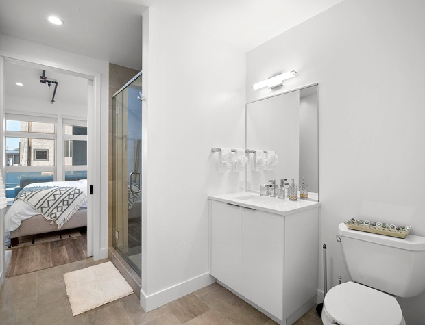 Master Bathroom with Glass Walk-In Shower