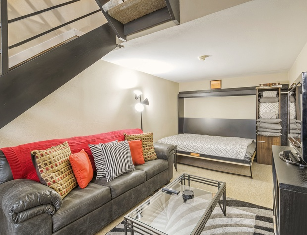 Lower Level With Full Pullout Sofa and Queen Murphy Bed