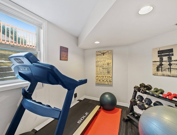 Workout Space in Basement