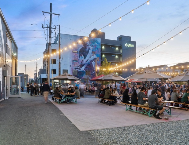 Take advantage of the outdoor beer garden at improper city!