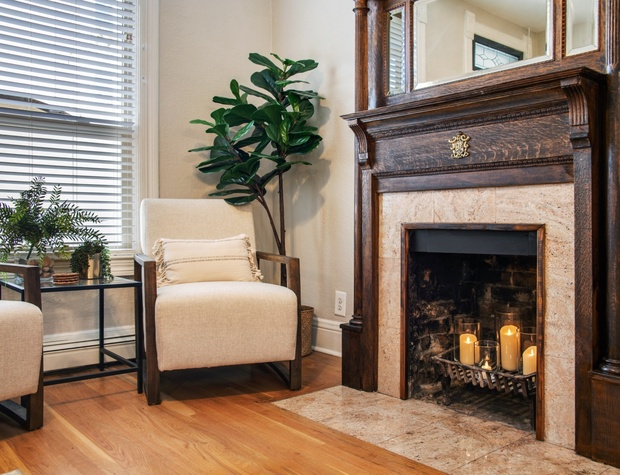 Living Room Seating (Fireplace is NOT operational)
