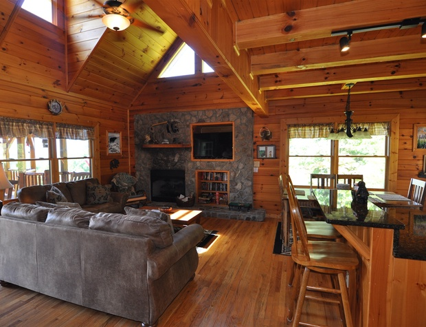 Comfortable Living Area With A Gas Fireplace