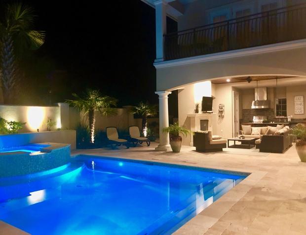 Casa del Sueno | Private pool with outdoor living area and kitchen