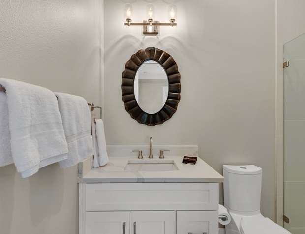 Lakeside Rendezvous | 1st Floor guest bath