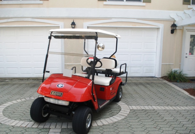 Included 4 seater street legal golf cart