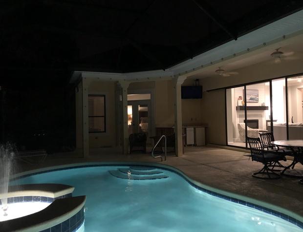 Casa del Sol | Pool Views at night